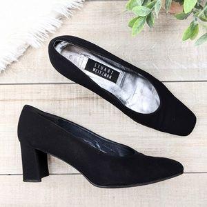 STUART WEITZMAN Black Squared Toe Heels